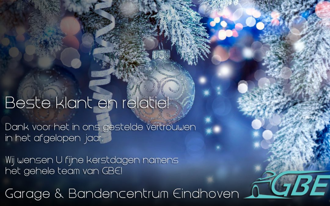 Fijne kerstdagen namens het gehele team van GBE!