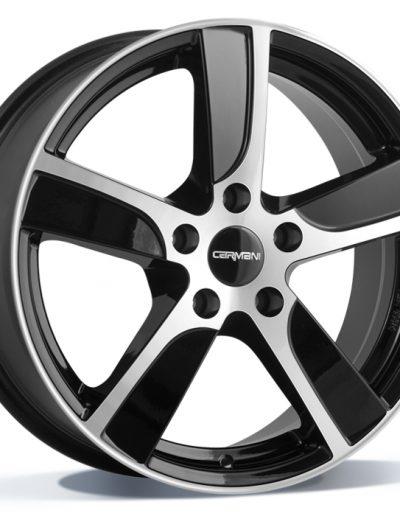 "Carmani CA12 Dynamic zwart gepolijst 15"" 16"" 17"" 18"""