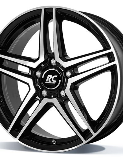"RCD17 zwart glanzend, front gepolijst 16"" 17"" 18"" 19"""