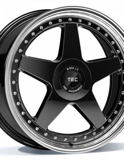 """TEC GT EVO-R zwart, gepolijste lip 18"""" 19"""" 20"""""""